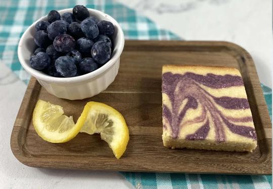Keto Blueberry lemon bars   Kai's Baking